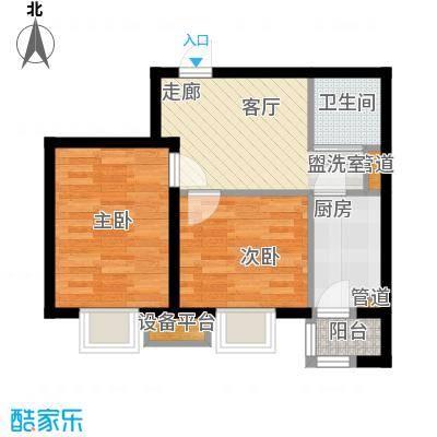 新希望家园68.00㎡新希望家园户型图1#楼B户型2室1厅1卫1厨户型2室1厅1卫1厨