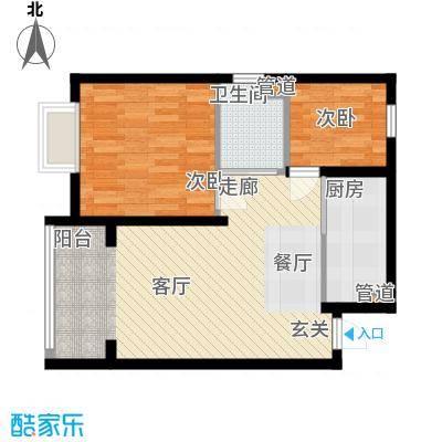 新希望家园73.80㎡新希望家园户型图9#楼B户型2室1厅1卫1厨户型2室1厅1卫1厨