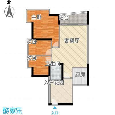 骏马山庄75.00㎡骏马山庄3室户型3室