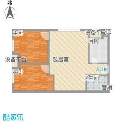 红星MOMA新程82.32㎡红星MOMA新程户型图A11户型2室1厅1卫1厨户型2室1厅1卫1厨