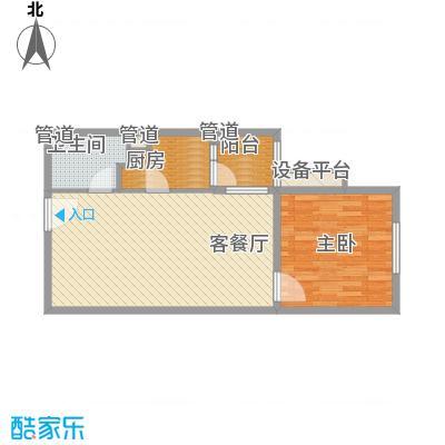 红星MOMA新程59.17㎡红星MOMA新程户型图A12户型1室1厅1卫1厨户型1室1厅1卫1厨