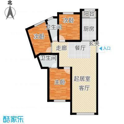 美地庄园・苹果园美地・苹果园三期户型图16#D户型户型10室