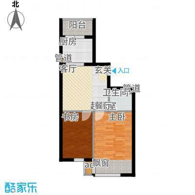 名仕雅居68.58㎡名仕雅居户型图K-1户型2室2厅1卫1厨户型2室2厅1卫1厨