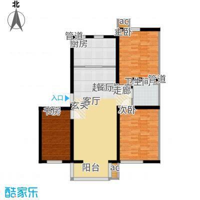 名仕雅居108.41㎡名仕雅居户型图Q户型3室2厅1卫1厨户型3室2厅1卫1厨