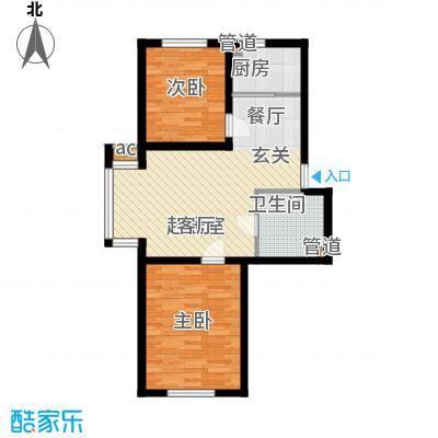 名仕雅居75.56㎡名仕雅居户型图M户型2室2厅1卫1厨户型2室2厅1卫1厨