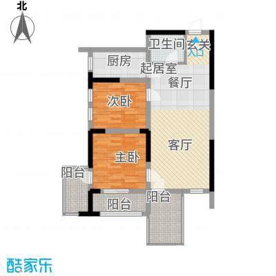 轻�小筑76.00㎡轻�小筑户型图C-2户型2室2厅1卫1厨户型2室2厅1卫1厨