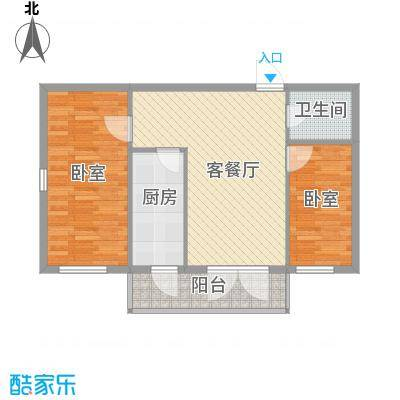 西溪橡园90.39㎡西溪橡园户型图户型E2室1厅1卫1厨户型2室1厅1卫1厨