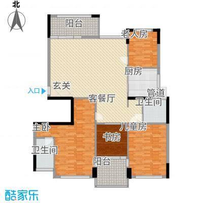 中信森林湖190.00㎡中信森林湖4室户型4室
