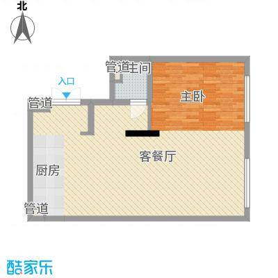 晋合公寓89.00㎡晋合公寓户型图3#标准层C户型2室2厅1卫1厨户型2室2厅1卫1厨