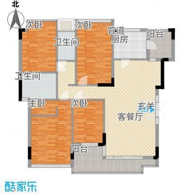 中信森林湖198.00㎡中信森林湖4室户型4室