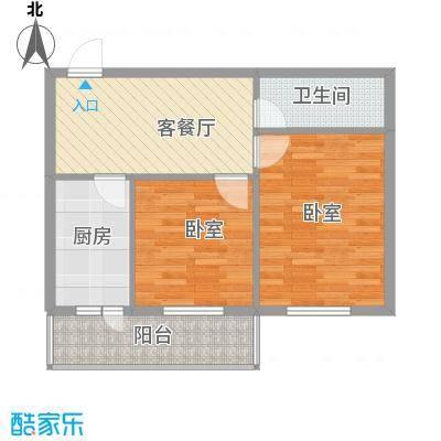 西溪橡园76.21㎡西溪橡园户型图户型F2室1厅1卫1厨户型2室1厅1卫1厨