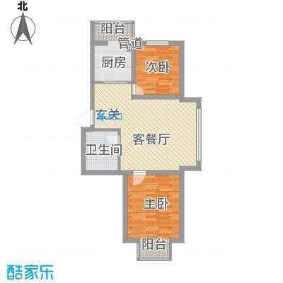 廊桥国际70.44㎡廊桥国际户型图I型2室1厅1卫户型2室1厅1卫