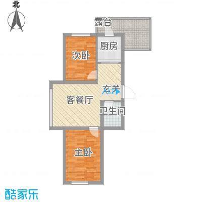 廊桥国际70.75㎡廊桥国际户型图A型2室2厅1卫户型2室2厅1卫