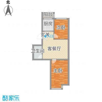 廊桥国际70.33㎡廊桥国际户型图C型2室1厅1卫户型2室1厅1卫
