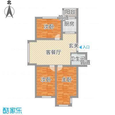 廊桥国际96.95㎡廊桥国际户型图G型3室2厅1卫户型3室2厅1卫