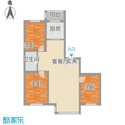 廊桥国际111.93㎡廊桥国际户型图J型3室2厅1卫户型3室2厅1卫