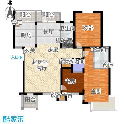 清河湾136.53㎡清河湾户型图F户型3室2厅2卫1厨户型3室2厅2卫1厨