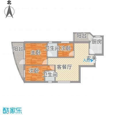 第一国际二期106.00㎡第一国际二期2室户型2室