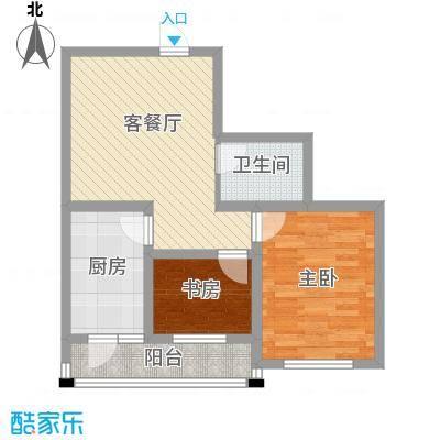 明城花园77.00㎡明城花园户型图二期2室2厅1卫户型2室2厅1卫