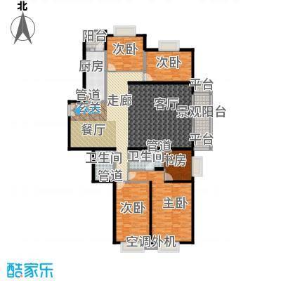 世纪城国际公馆二期167.00㎡世纪城国际公馆二期4室户型4室