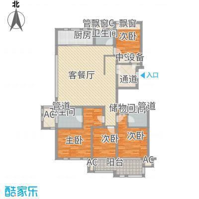 华润置地橡树湾176.00㎡华润置地橡树湾户型图LUX公寓27#楼F户型4室2厅3卫1厨户型4室2厅3卫1厨