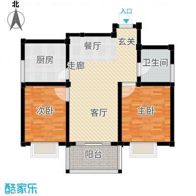 舜景花园91.00㎡舜景花园2室户型2室
