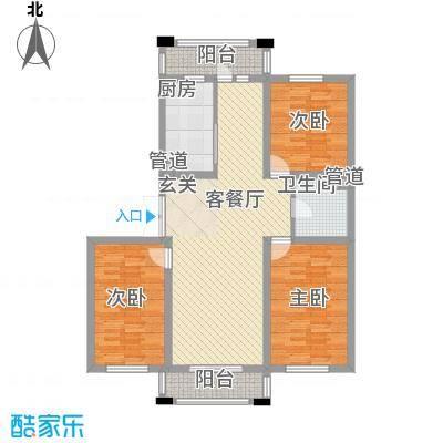 保利花园三期双河城119.00㎡保利花园三期双河城户型图三室二厅一卫119平方米3室2厅1卫户型3室2厅1卫