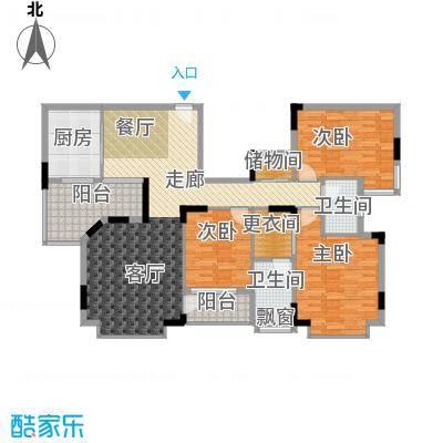 世纪城国际公馆二期138.00㎡世纪城国际公馆二期3室户型3室