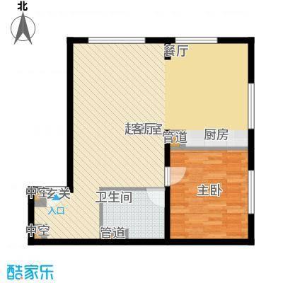 山景明珠花园山景明珠花园户型图9、10、11号楼A1室2厅1卫1厨户型1室2厅1卫1厨