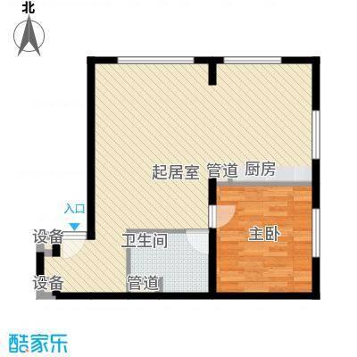 山景明珠花园82.03㎡山景明珠花园户型图A1户型1室2厅户型1室2厅