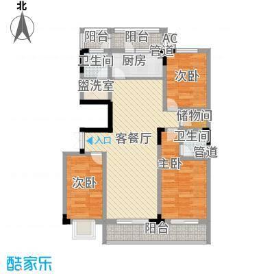 金田花园98.00㎡金田花园3室户型3室