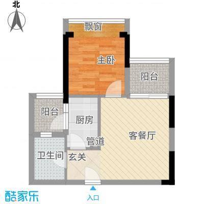 南城住宅55.00㎡南城住宅1室户型1室
