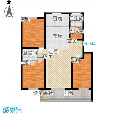 河畔新苑 4室 户型图