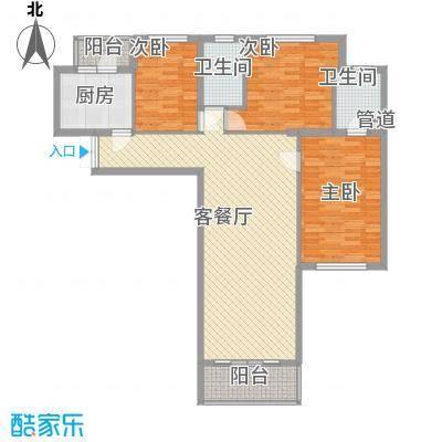 东方剑桥138.69㎡上海东方剑桥户型10室