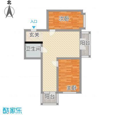 明园丽景63.41㎡明园丽景户型图2室2厅1卫1厨户型10室