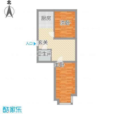 明园丽景48.56㎡明园丽景户型图2室1厅1卫1厨户型10室