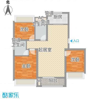 城建南郡城建南郡户型图E1户型图3室2厅2卫户型3室2厅2卫