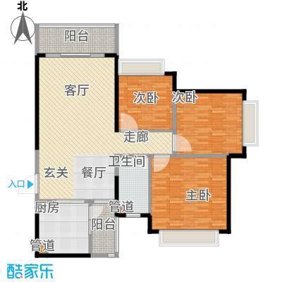 济南恒大名都116.00㎡济南恒大名都户型图22#户型(1)3室2厅1卫1厨户型3室2厅1卫1厨