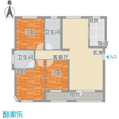 一品佳地(瓦房店)户型图3室户型图 3室2厅2卫1厨