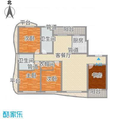 宏城金棕榈户型图A户型 2室2厅2卫1厨
