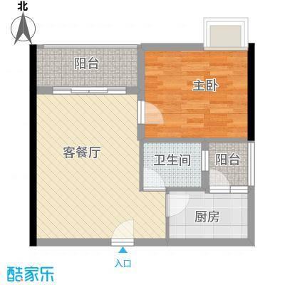 元美广场 1室2厅户型图