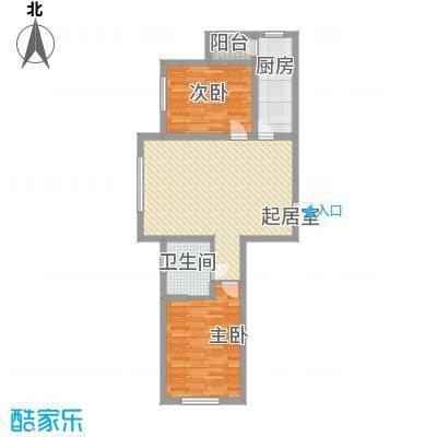 泰莱枫尚户型图D1户型 2室2厅1卫1厨