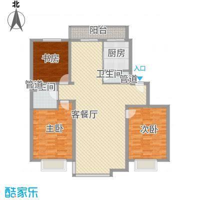 风华时代户型图3室2厅2卫
