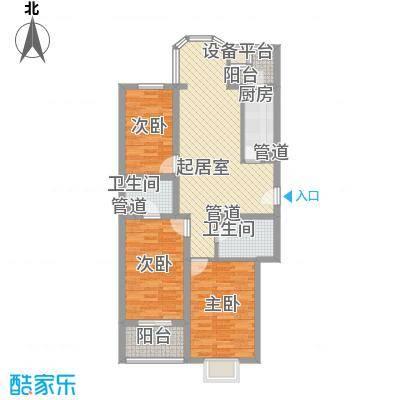 七里堡小区111.00㎡七里堡小区3室户型3室