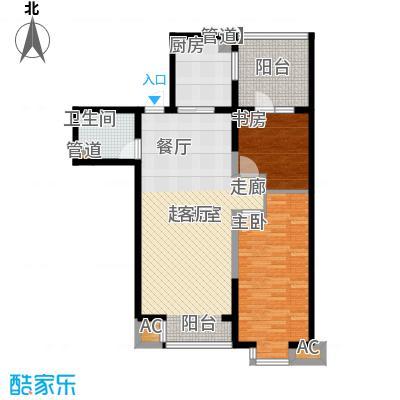 水木清华87.96㎡水木清华户型图2室2厅1卫户型10室