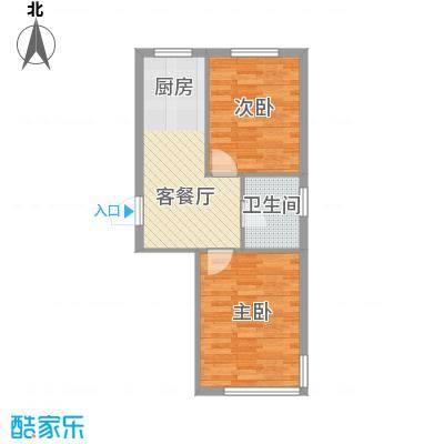 龙畔金泉三期58.31㎡龙畔金泉三期户型图2室1厅1卫1厨户型10室