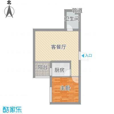 地王白金国际公寓53.96㎡地王白金国际公寓户型图1室2厅1卫户型10室