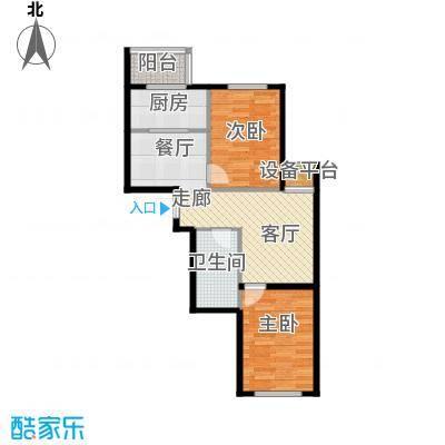 新汉城锦都77.95㎡新汉城锦都户型图F户型2室2厅1卫户型2室2厅1卫