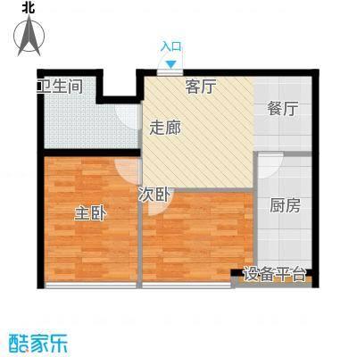 新汉城锦都48.00㎡新汉城锦都1室户型1室