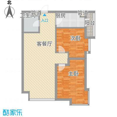 风华时代96.85㎡风华时代户型图2室2厅1卫户型10室